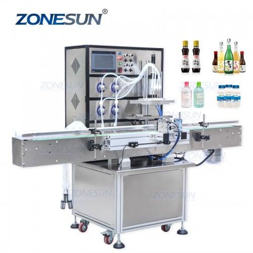 ZONESUN Full Automatic Magnetic Pump Liquid Filling Machine